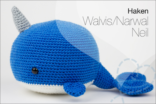 Haken haakpatroon walvis Narwal neil wendy
