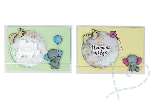 geboortekaartjes zelf maken shakercard baby geboren