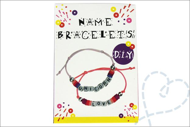Action shoplog DIY Naam armbandjes