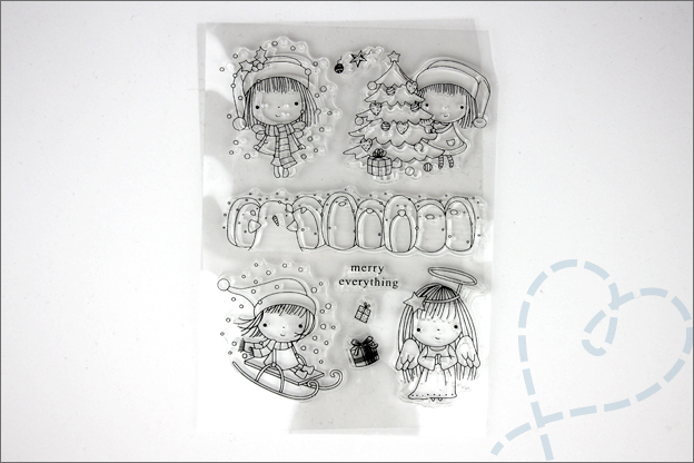AliExpress knutselspullen shoplog clear stamps kerst