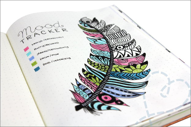 Bullet journal thema veer mood tracker