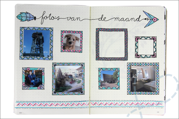 Bullet journal september foto's maand
