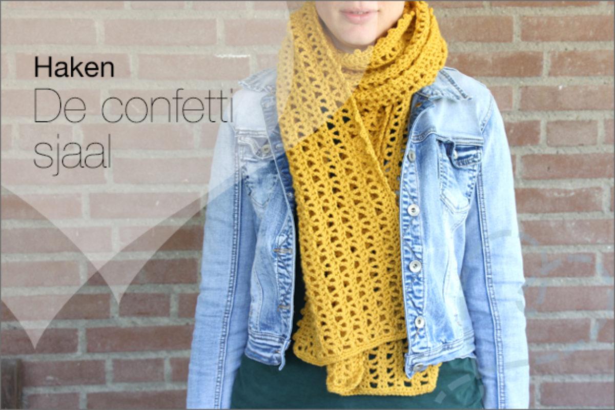 Verwonderlijk Haken: Mijn tweede sjaal, de confetti sjaal - Nobody ELSe JB-97