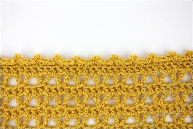 Confetti sjaal haken rand