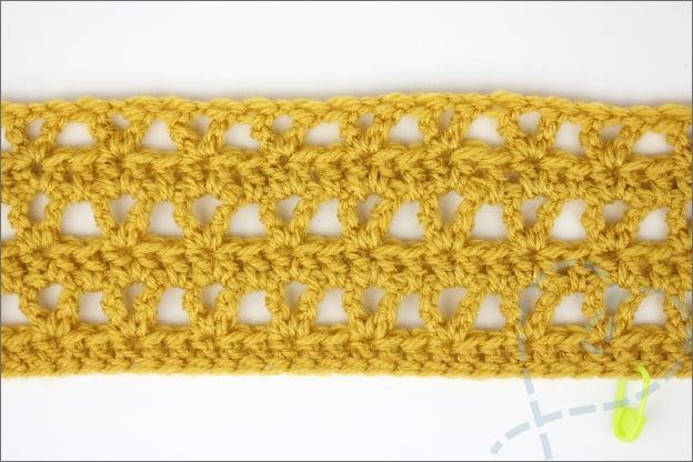 Confetti sjaal haken toer 1 t/m 6