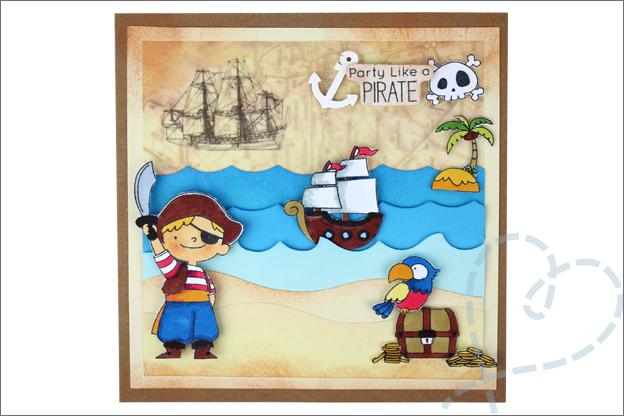 Piraten kaarten maken landkaart papegaai schatkist