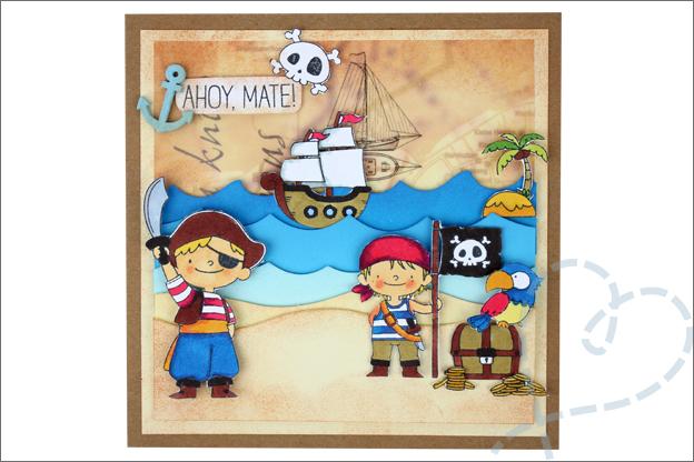 Piraten kaarten maken uitnodiging kinderfeestje