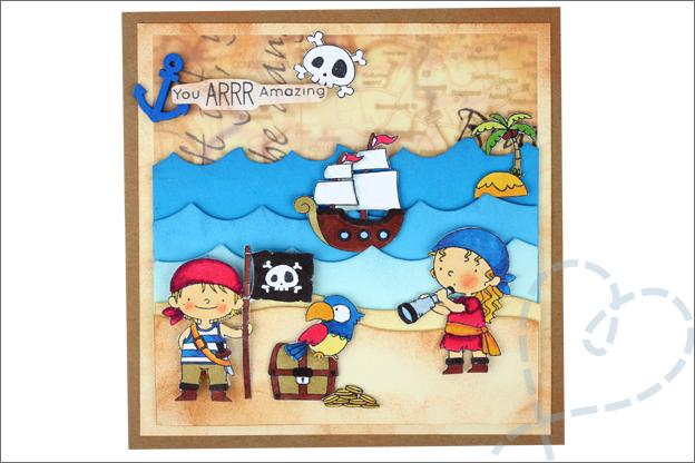 Piraten kaarten maken kind feest zelfgemaakt