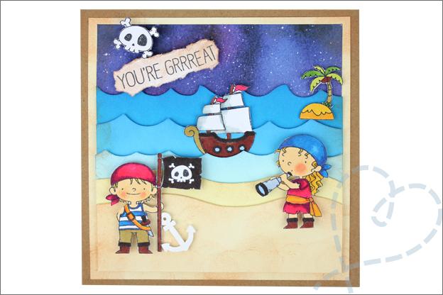 Piraten kaarten maken piraat meisje