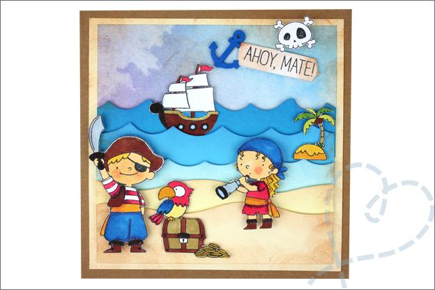 Piraten kaarten maken handgemaakt DIY