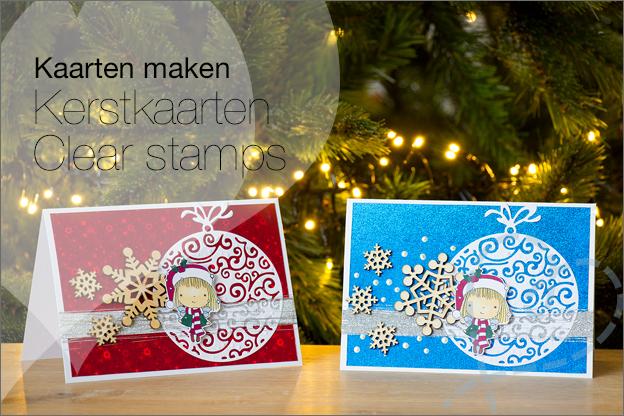 Kerstkaarten maken 2018 clear stamps