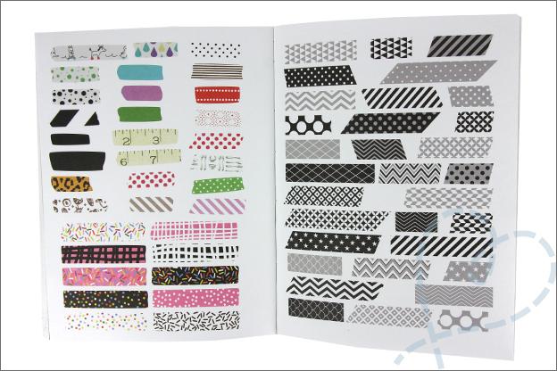 MUS Stickerboek strookjes voorbeeld pagina