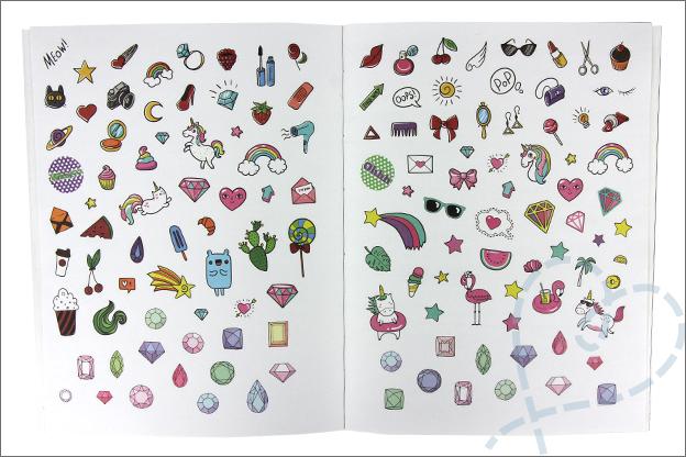 MUS Stickers gekleurd afbeeldingen
