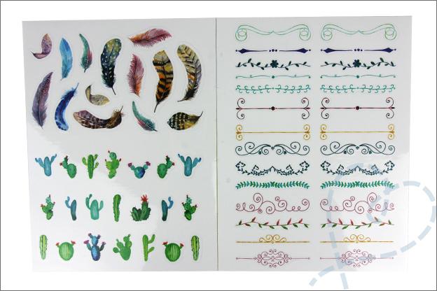 MUS Stickers gekleurd glanzend