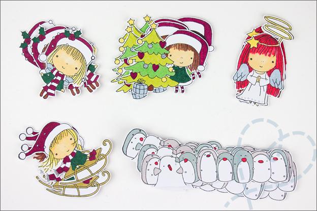 Zelf kerstkaarten knutselen Twinmarkers action