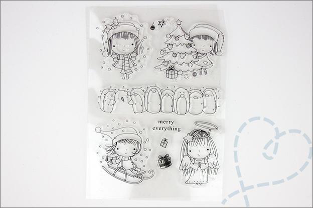 Zelf kerstkaarten knutselen clear stamps AliExpress