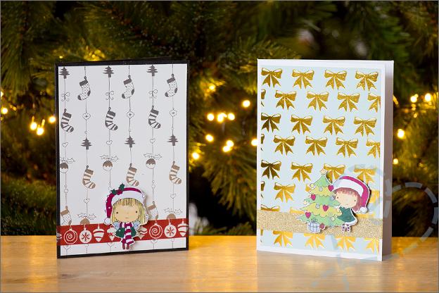 Zelf kerstkaarten knutselen set 1 papierblok action kruidvat
