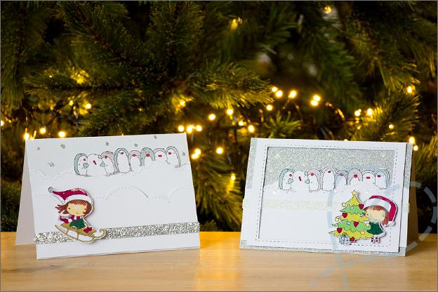 Zelf kerstkaarten 2018 knutselen_set_3_3D_kaarten clear stamps zelfgemaakt
