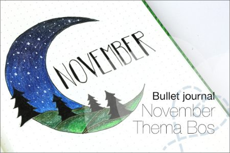 Bullet journal #12: November, thema bos/buiten