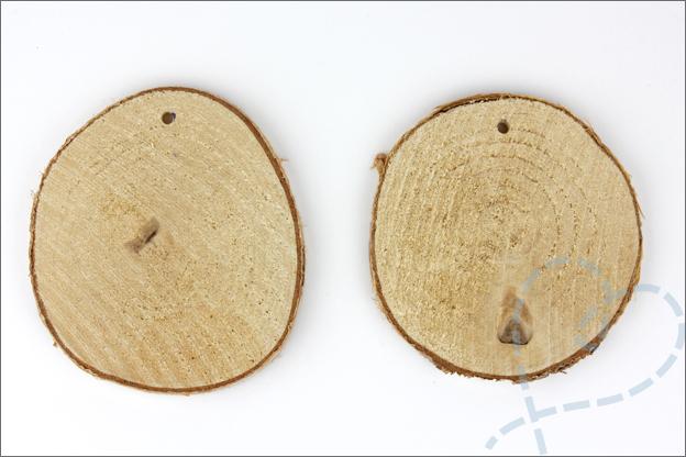 DIY kerstbal string art houten schijfjes
