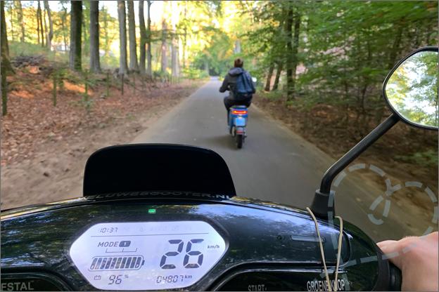 Elektrische scooter huren postbank