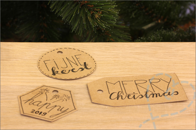 Action kerst DIY cadeaulabels handletteren