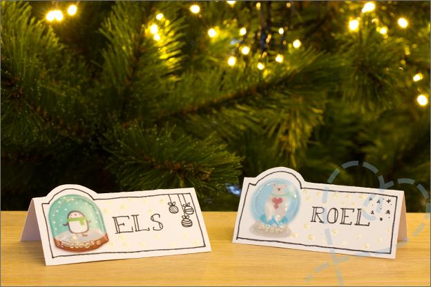 Action kerst DIY naamkaatjes parelverf