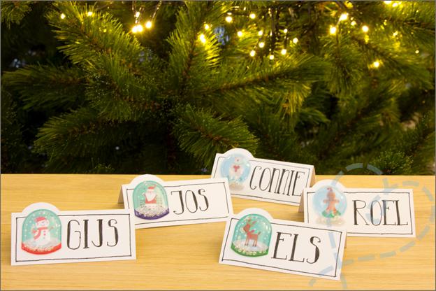 Action kerst DIY tafelschikking kaartjes