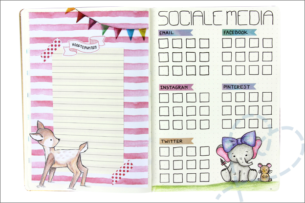 Bullet journal 2019 blog sociale media