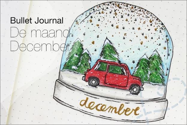 Bullet journal thema kerst inspiratie