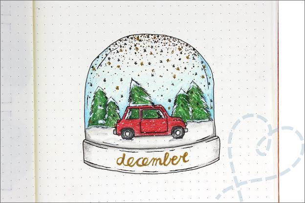 Bullet journal thema kerst inspiratie cover