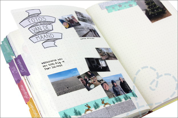 bullet journal december foto's van de maand
