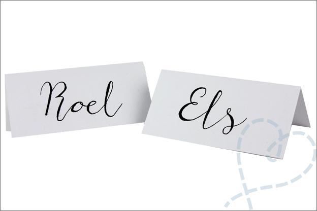 MUS kalligrafie set naam kaartjes