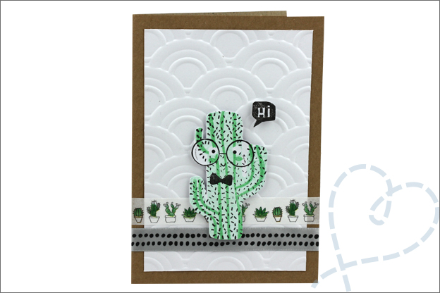 Action 3D embossing mal cactus