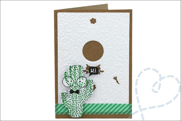 Action kaarten maken cactus stempel
