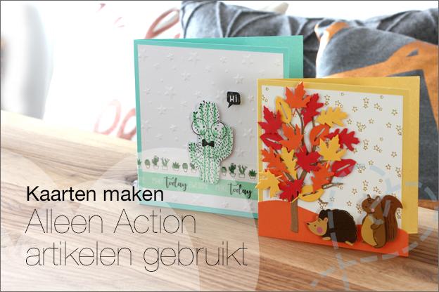 Action kaarten maken snij embossing mallen