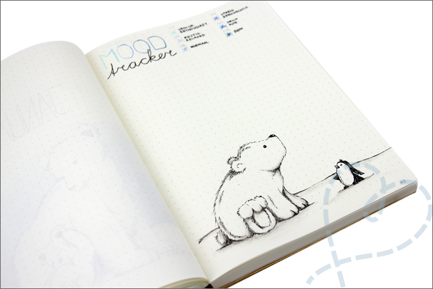 Bujo januari mood tracker sneeuw winter