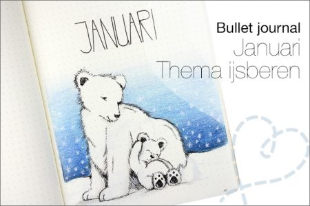 Bullet journal #15: Januari, thema IJsberen
