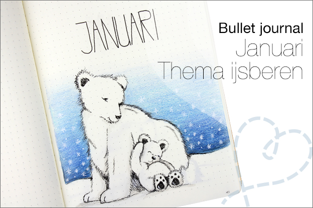 Bullet journal januari thema ijsberen winter