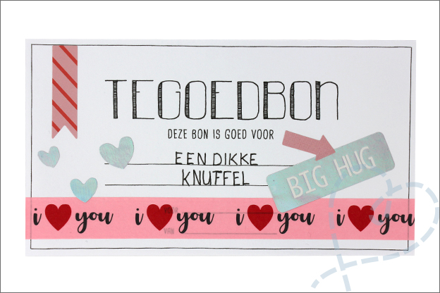 DIY Valentijn tegoedbon knuffel