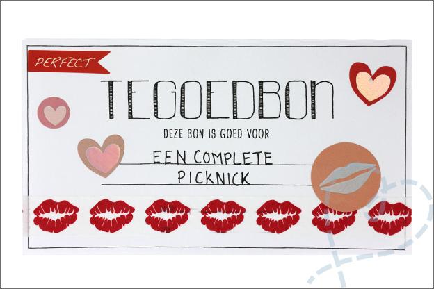 DIY Valentijnsdag cadeaubon picknick
