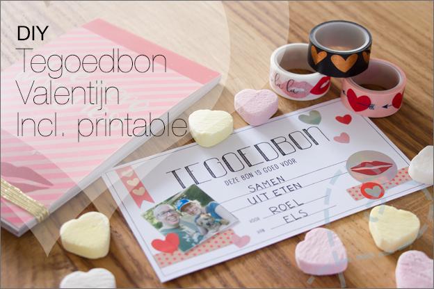 DIY Valentijnsdag tegoedbon cadeaubon maken