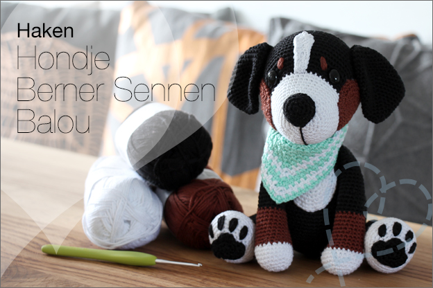 Haken hondjes sokkenwol Balou Berner sennen