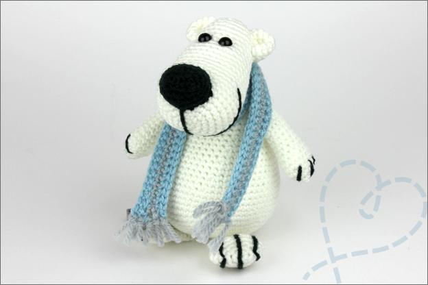 Haken ijsbeer amigurumi extra sjaal