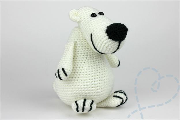 Haken ijsbeer amigurumi in love