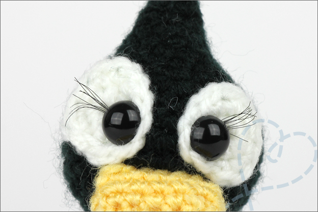 Haken piguin amigurumi in love