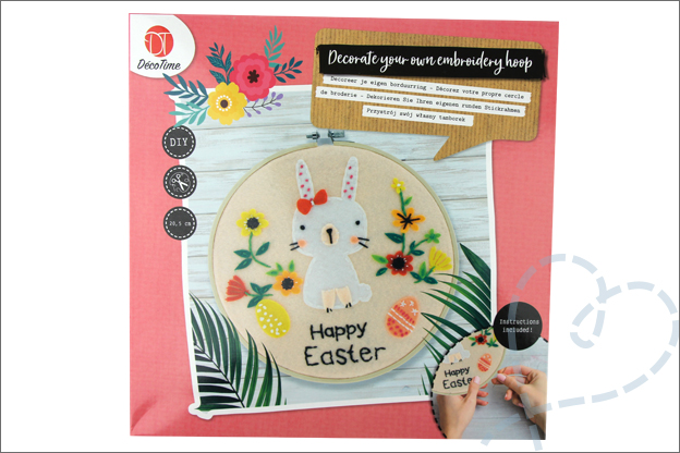 Action decotime decorate your own embroidery hoop