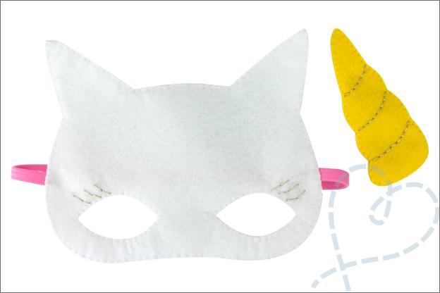 DIY Masker eenhoorn verkleden carnaval gratis patroon