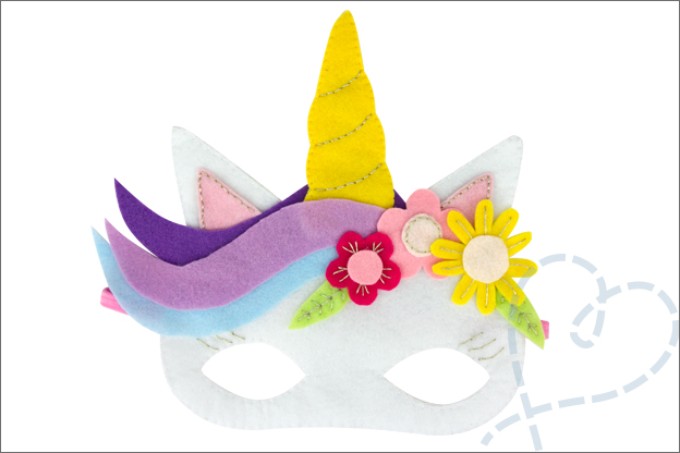 DIY Masker eenhoorn verkleden carnaval kind volwassenen