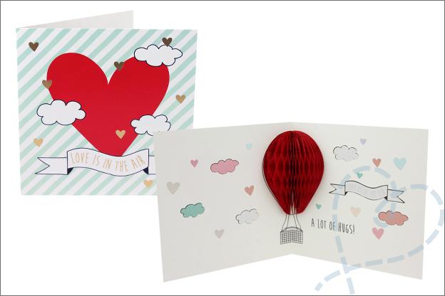DIY Valentijnsdag Action kaart honycomb